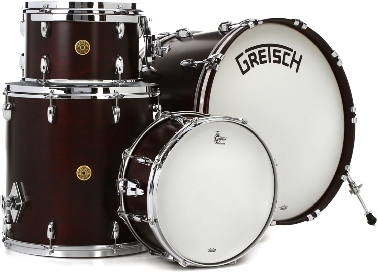 Gretsch Drums Broadkaster 4 piece Shell Pack   Satin Walnut Glaze   Sweetwater