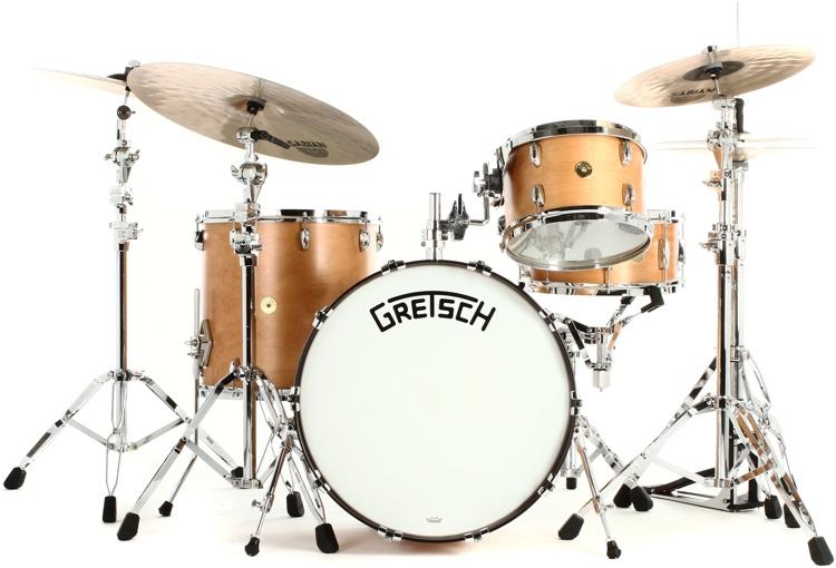 Gretsch Drums Broadkaster 4-piece Drum Set Satin Classic Maple image 1