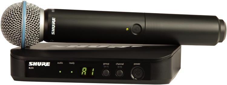 Shure BLX24/Beta58 Handheld Wireless System - Band J10, 584-608MHz image 1