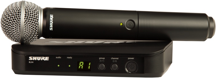 Shure BLX24/SM58 Handheld Wireless System - Band H8, 518-542MHz image 1