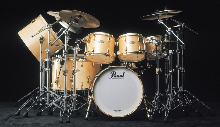 Pearl Masters Premium Birch 4-piece Shell Pack - Walnut Laquer image 1