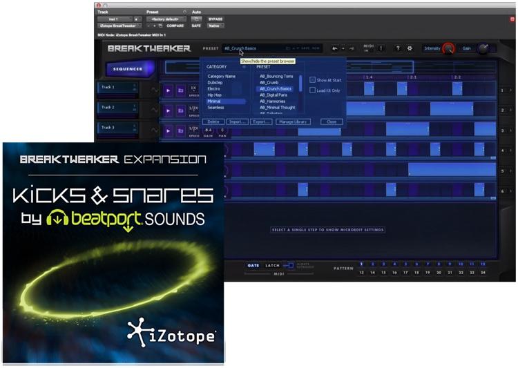iZotope BreakTweaker Expansion: Kicks & Snares by Beatport Sounds image 1