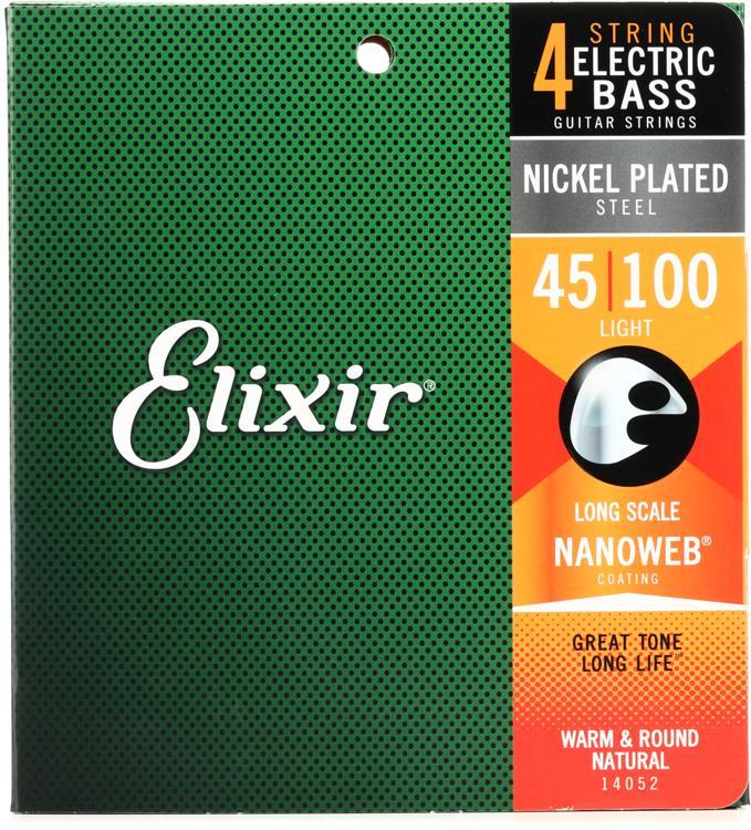 Elixir Strings 14052 Nanoweb Light Long Scale Electric Bass Strings image 1