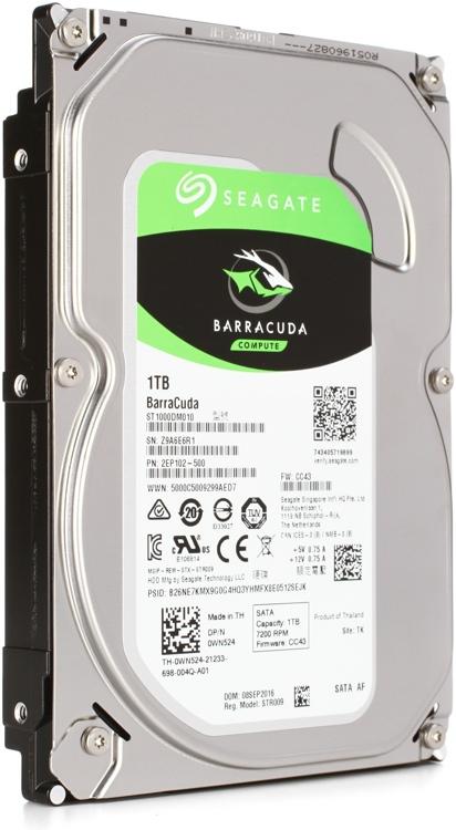 Seagate BarraCuda - 1TB, 7,200 RPM, 3.5