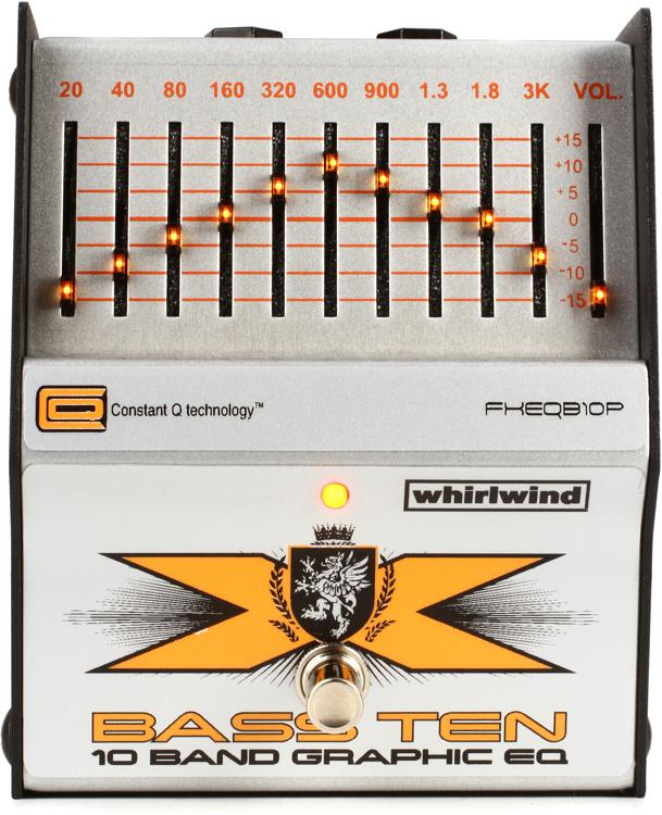Whirlwind Bass Ten 10 Band Bass EQ Pedal image 1
