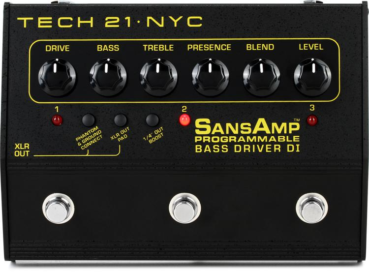 Tech 21 sansamp programmable bass driver di pedal pbdr b&h photo.