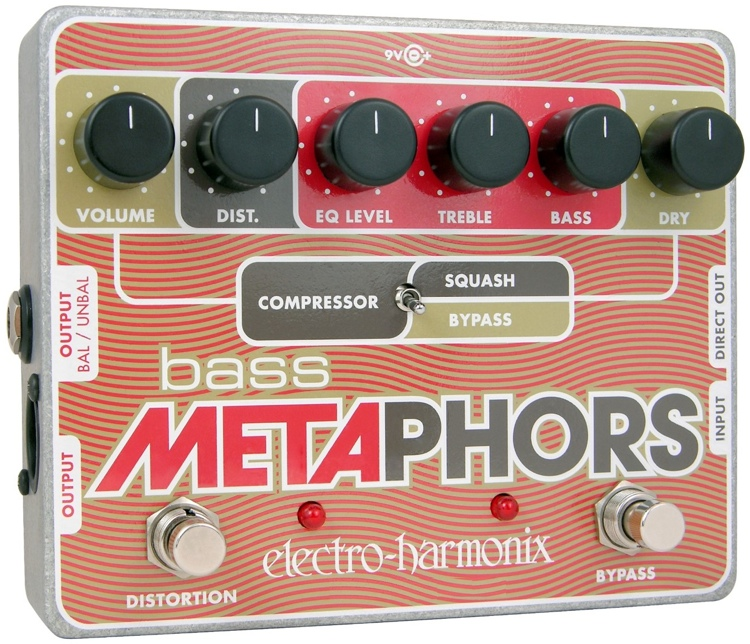 Electro-Harmonix Bass Metaphors Bass Distortion / Compressor Pedal image 1