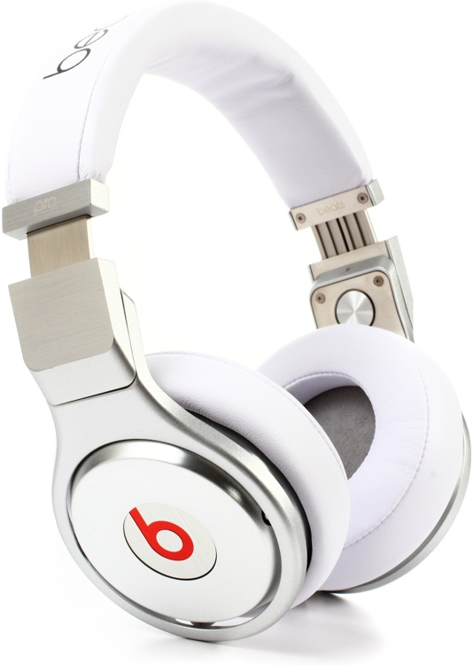 Beats Pro Headphones - White/Silver image 1