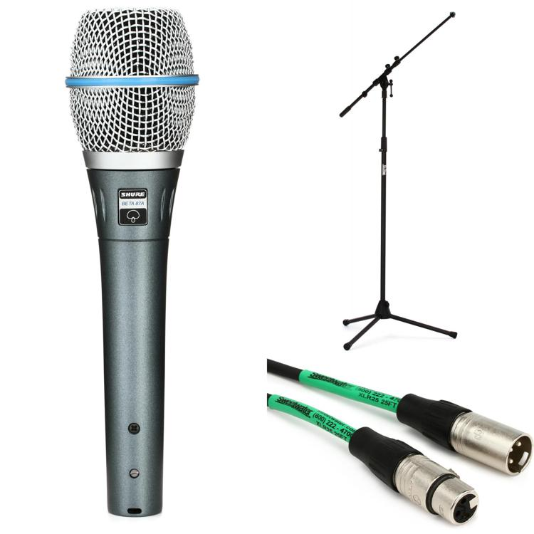 Shure Beta87A Handheld Microphone with Stand and Cable image 1