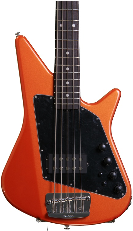 Ernie Ball Music Man Big Al 5 H Tangerine Pearl, All Rosewood Neck image 1