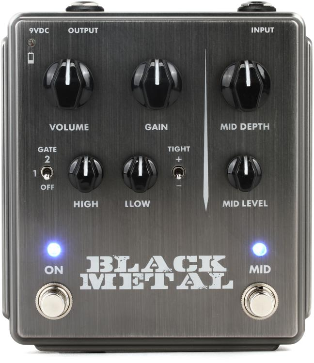Egnater Black Metal Distortion Pedal with Mid Boost image 1