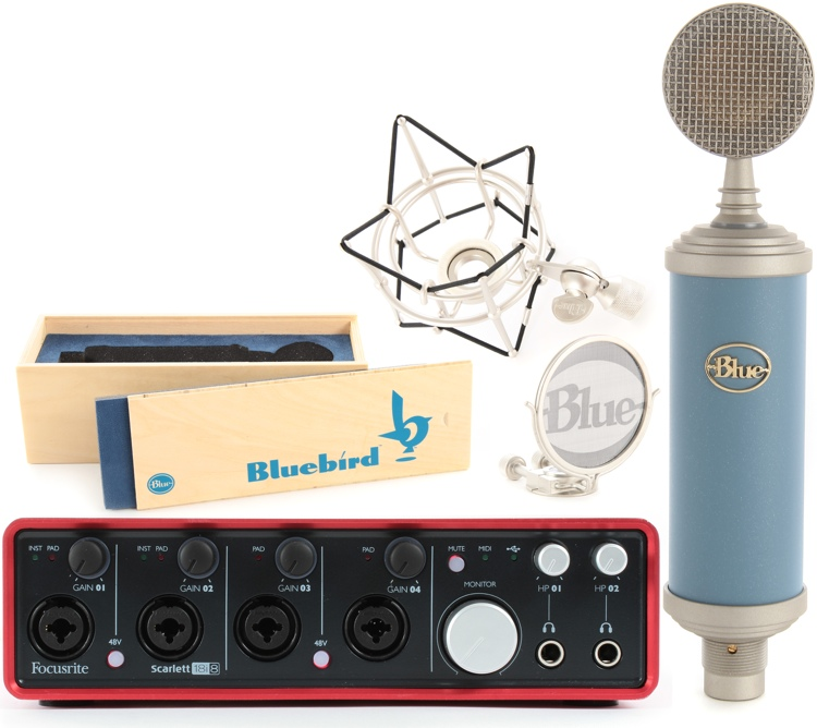 Blue Microphones Bluebird Package with Focusrite Scarlett 18i8 image 1
