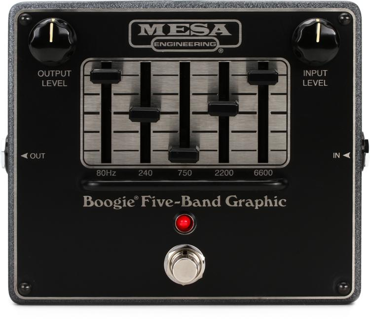 mesa boogie boogie five band graphic eq pedal sweetwater rh sweetwater com 5 band graphic equalizer using op amp 5 band graphic equalizer circuit diagram
