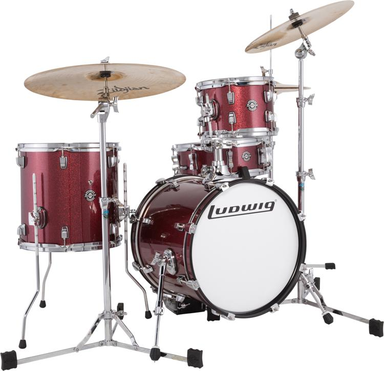 Ludwig Breakbeats By Questlove 4-piece Shell Pack with Snare Drum - Wine Red image 1