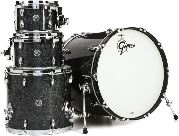 Gretsch Drums Brooklyn 4-Piece Shell Pack - Black Marine Pearl image 1