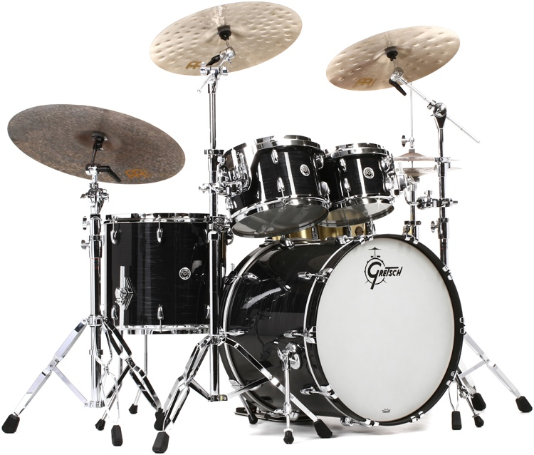 6c681cc822af Gretsch Drums Brooklyn 4-Piece Shell Pack - Black Oyster