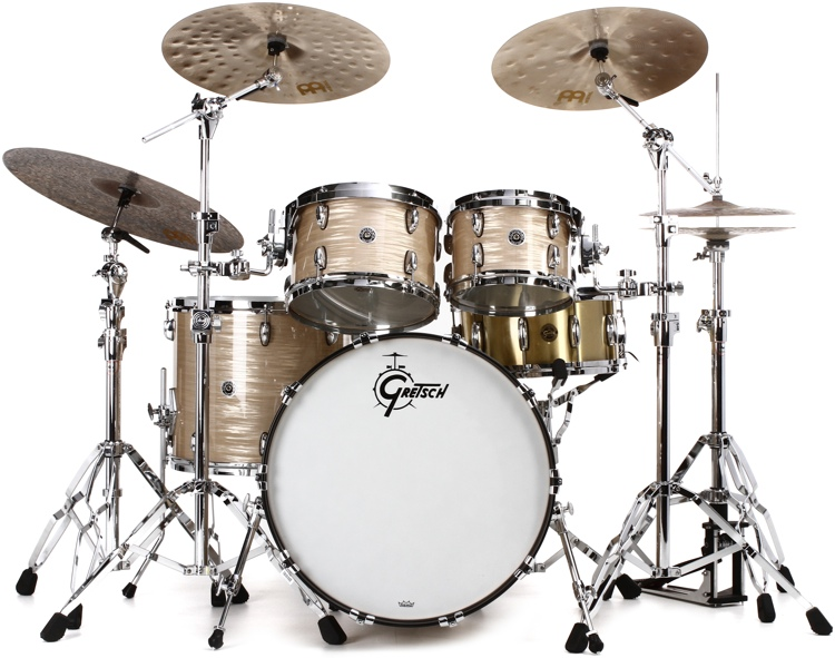 Gretsch Drums Brooklyn 4-Piece Shell Pack - Vintage Cream Oyster Wrap image 1