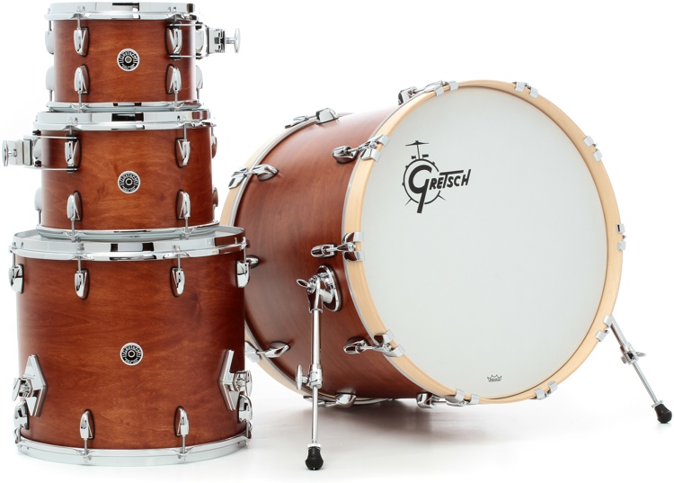 Gretsch Drums Brooklyn 4-Piece Shell Pack - Satin Mahogany image 1