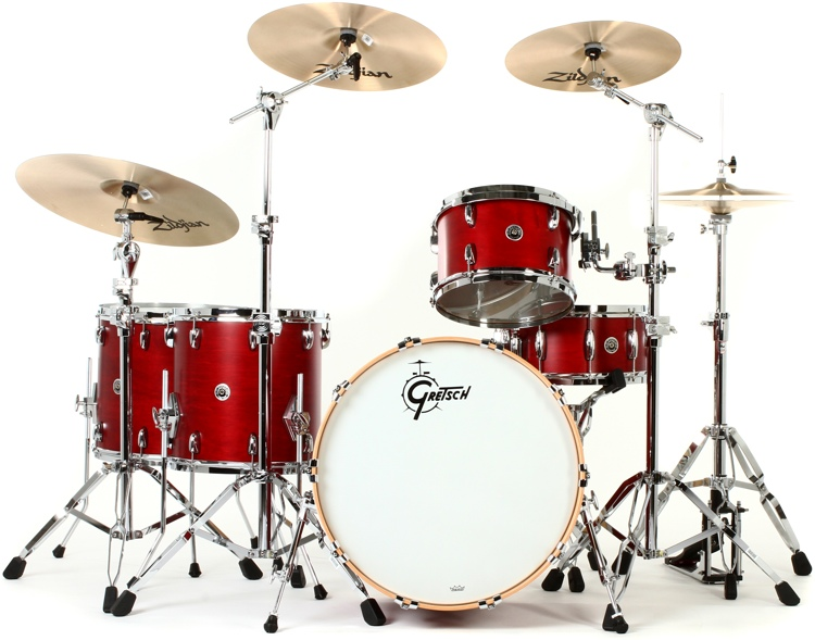 Gretsch Drums Brooklyn 5 Piece Rock Shell Pack with Snare Drum - Satin Tobasco image 1
