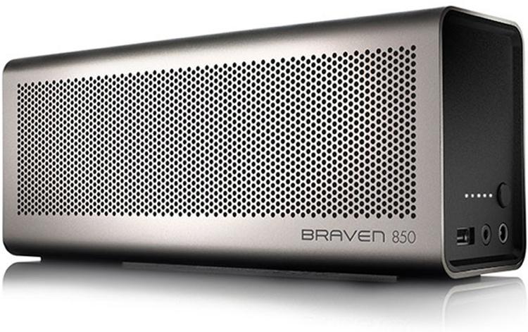 Braven 850 Portable Wireless Speaker, Silver image 1