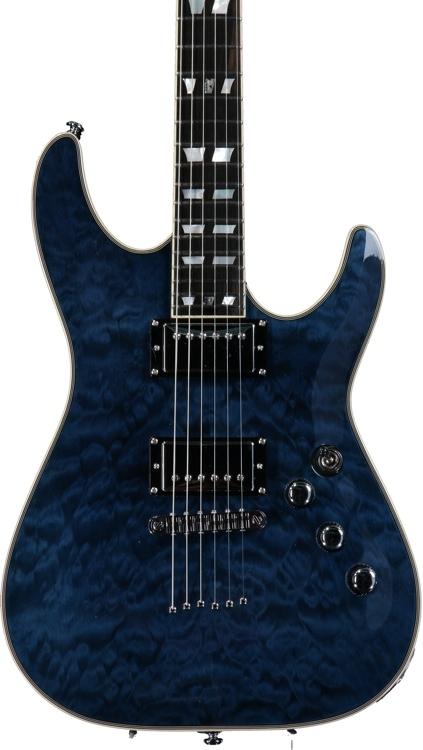 Schecter C-1 Custom - See-Thru Blue image 1