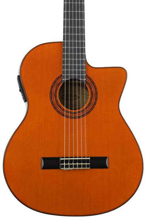 Washburn C5CE Classic Style Nylon Guitar - Natural Cutaway with Electronics image 1