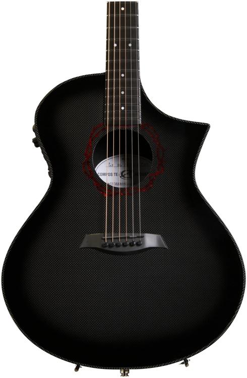 Composite Acoustics GX Grand Auditorium Acoustic/Electric - High Gloss Carbon Burst w/Crown of Thorns Rosette image 1