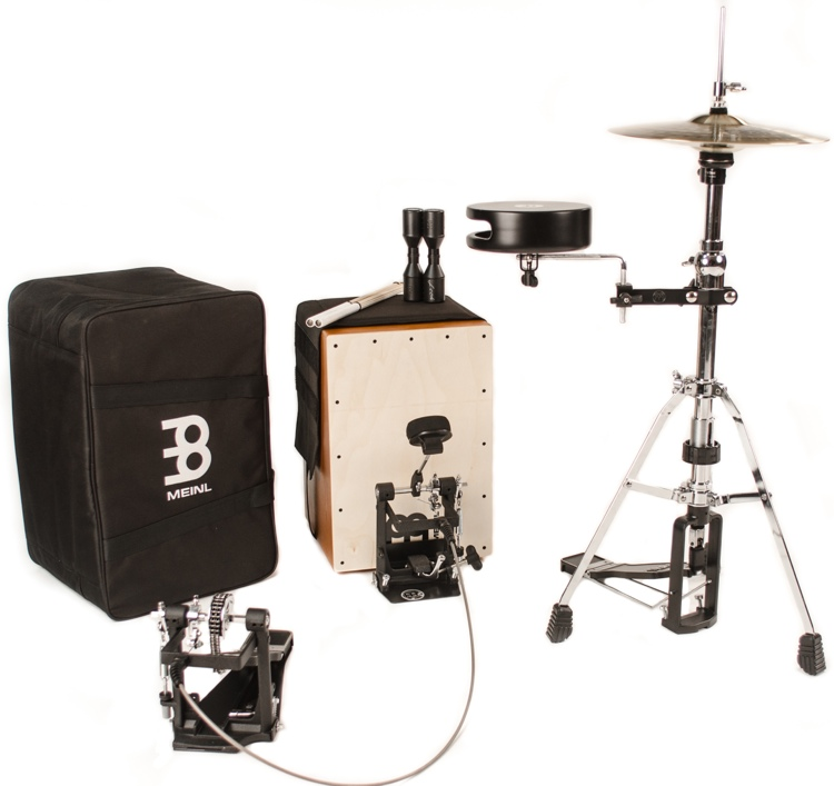 meinl percussion cajon drum set with cymbals and hardware sweetwater. Black Bedroom Furniture Sets. Home Design Ideas