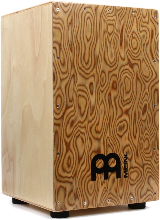 Meinl Percussion Traditional String Cajon - Makah-Burl Frontplate with Gig Bag image 1