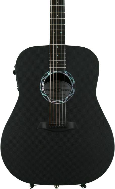 Composite Acoustics Legacy Dreadnought Acoustic-Electric - Satin Back, Raw Carbon Fiber Top image 1
