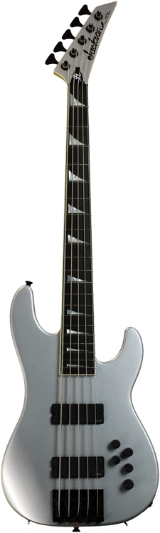 Jackson David Ellefson Concert Bass Rust in Peace 20th Anniversary LTD - 5 String Silver image 1