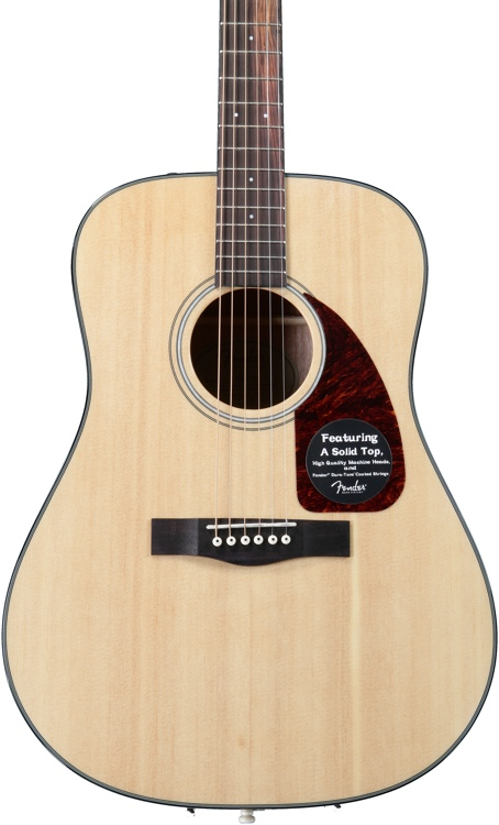 Fender CD-140S - Natural w/solid top image 1