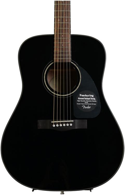 Fender CD-60 Dreadnought - Black image 1