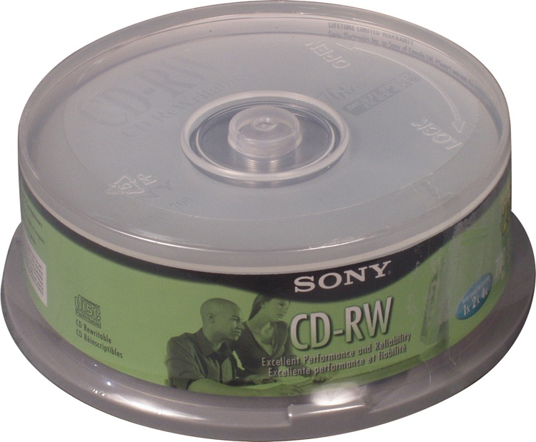 Sony CD-RW 25-disk Spindle image 1
