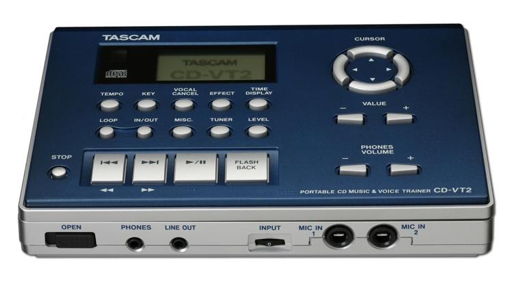 TASCAM CD-VT2 Portable CD Music/Vocal Phrase Trainer image 1