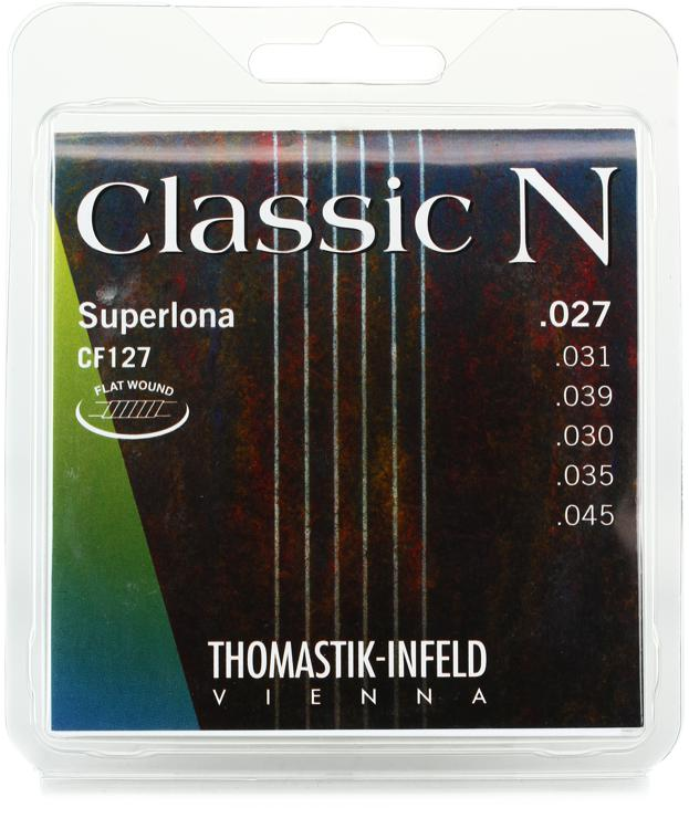 thomastik infeld classic n superlona classical guitar strings flat wound bass with nylon g. Black Bedroom Furniture Sets. Home Design Ideas