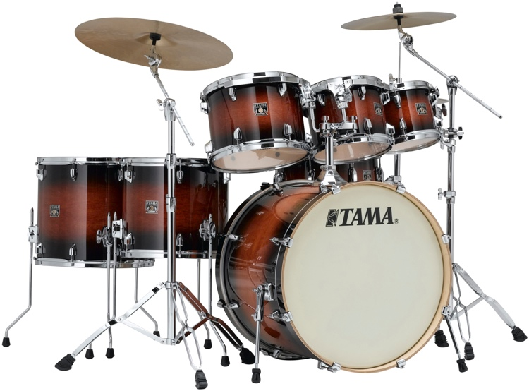 Tama Superstar Classic 7-piece Shell Pack - Mahogany Burst Lacquer image 1