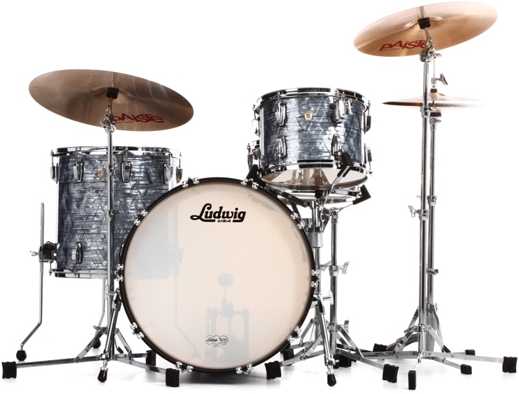 Ludwig Classic Maple Fab 22 Shell Pack Sky Blue Pearl