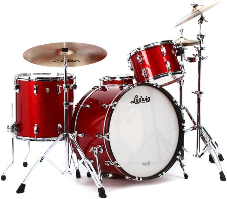 Ludwig Classic Maple Pro Beat 24 Shell Pack Red Sparkle
