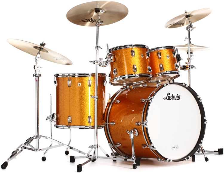 Ludwig Classic Maple Mod 22 Shell Pack - Gold Sparkle image 1