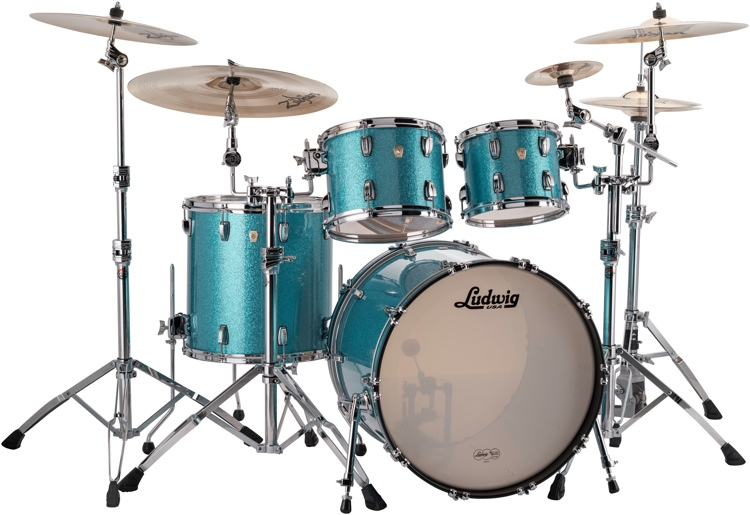 Ludwig Classic Maple Mod 22 Shell Pack - Teal Sparkle image 1