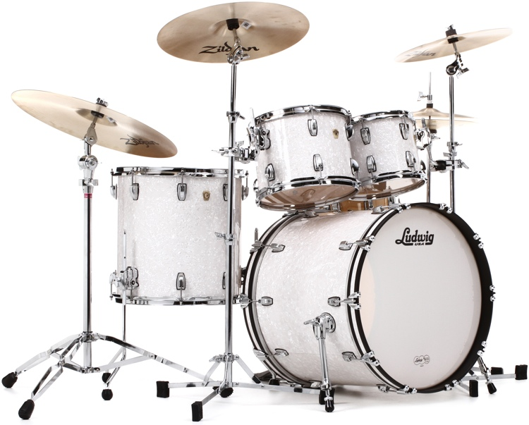 Ludwig Classic Maple Mod 22 Shell Pack - White Marine Pearl image 1