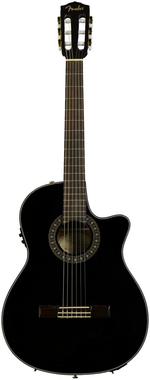 Fender CN-240SCE Thinline - Black image 1