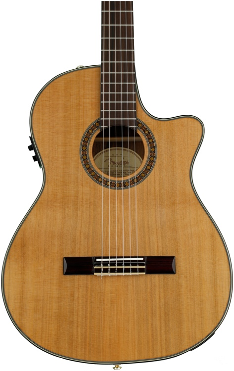 Fender CN-240SCE Thinline - Cedar Top image 1
