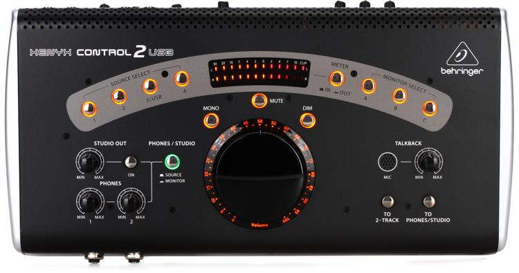 behringer control2usb high end studio control with vca control and usb audio interface sweetwater. Black Bedroom Furniture Sets. Home Design Ideas