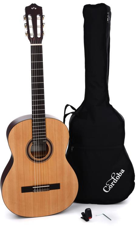 Cordoba CP100 Nylon String Guitar Pack - Spruce Top image 1