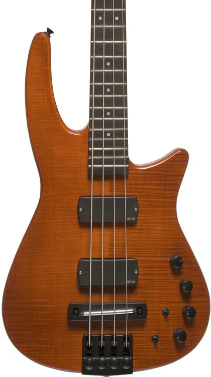 NS Design CR4 Radius Bass Guitar - Amber Satin, Fretted image 1