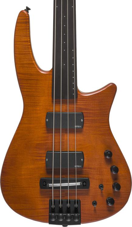 NS Design CR4 Radius Bass Guitar - Amber Satin, Fretless image 1