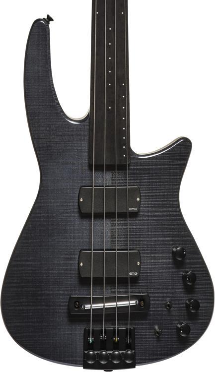 NS Design CR4 Radius Bass Guitar - Charcoal Satin, Fretless image 1