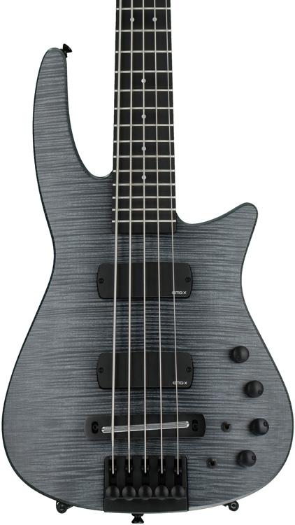 NS Design CR5 Radius Bass Guitar - Charcoal Satin, Fretted image 1